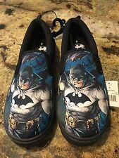 Discount ship Men's Batman Superheroes Canvas Slip on Summer Boat Shoes NWT Sz 8