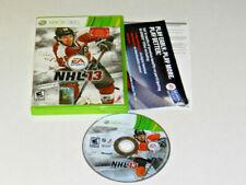 NHL 13 XBox 360 Microsoft Complete CIB PERFECT Disc VERY Fast Shipping World!!!
