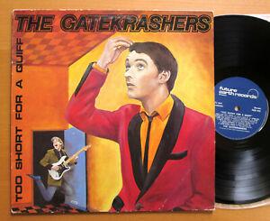 The Gatekrashers Too Short For A Quiff 1983 SIGNED VINYL Future Earth FER 015