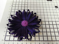 UK-Large, Purple - Satin Ribbon Flowers- Appliques,Trimmings ,Wedding 90mm x 1