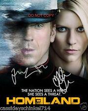 "Homeland TV show 8x10"" Reprint Signed Photo #3 RP Claire Danes & Damian Lewis"
