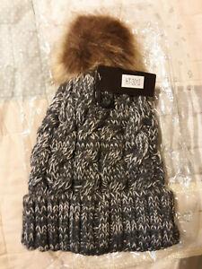 Kimberly C. Crochet Hat Fuzzy Ball on Top - Touk,Beanie, Stocking Cap,Winter Hat