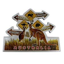 Australia Souvenir Fridge Magnet Road Sign Rubber Foil Kangaroo Koala Echidna