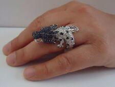 DRAGON RING W/ 7.50 CT DIAMONDS/RUBY/SAPPHIRE/SZ 5-9 /925 STERLING SILVER