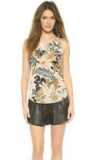 rag & bone Ivory Multi Tropical Print Silk Patricia Top SZ XXS XS 0