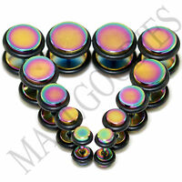 V121 Multi-Color Fake Cheaters Illusion Faux 16G Ear Plugs 4G 2G 0G 00G 7/16 1/2