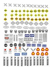 O Gauge Decals for your Hi Rail Train Layout 3 sheets for buildings, signs new
