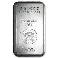 1000 Gram Geiger Security Line Silver Bar