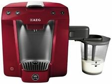 AEG Lavazza A Modo Mio Favola Cappuccino Coffee Machine Metallic Red Brand New
