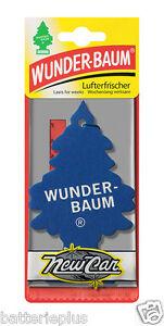5X Original WUNDERBAUM® NEW CAR Lufterfrischer Duftbäumchen Autoduft