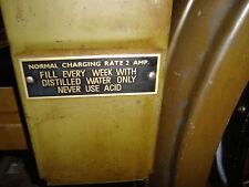 Harley Battery box instruction tag JD VL BA DL brass copper 1928 25 26 27 29 3