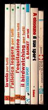 LOTTO 7 libri/manuali SPORT basket vela birdwatching marcia equitazione atletica