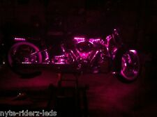 """HARLEY PINK FITS ALL MOTORCYCLES  12"""" 5050 SMD LED STRIPS TOTAL OF  24 LEDS"""