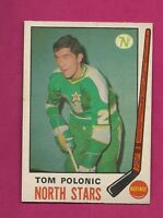 1969-70 OPC # 199 NORTH STARS TOM POLONIC  ROOKIE GOOD CARD (INV# 9220)