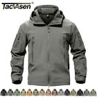 TACVASEN Waterproof Tactical Soft Shell Men Jacket Coat Army Windbreaker Outdoor