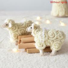 Handmade Christmas tree Little Lamb Wool Felt animal Ornament Home Xmas Decor