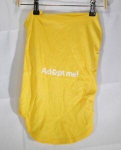 "Adopt Me Dog Screen Print Shirt XXLarge Yellow Approximate 10"" wide 19"" long  T2"