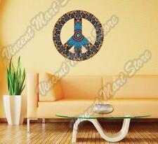 "Peace Sign Hippie Love Colorful Happy Wall Sticker Room Interior Decor 22""X22"""