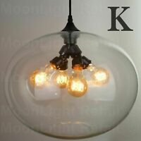 Modern Fashion Industrial Glass Shade Loft Cafe Pendant Light Ceiling Lamp - K