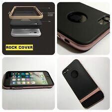 Cubierta de Rock Original Apple iPhone 7 caso híbrido Flex & Rígido Tpu Tech Oro Rosa
