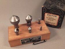 Lot of 7 Weldon Deburring Tools 90 Degree Tool Set DB36 DB26 DB18 DB14 DB8 DB4