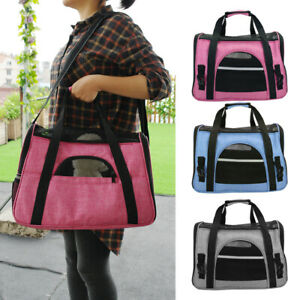 Portable Pet Dog Cat Carrier Bag Folding Puppy Travel Transport Shoulder Bag S L