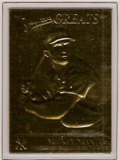 MICKEY MANTLE 22kt Gold Danbury Mint Card - YANKEES GREATS