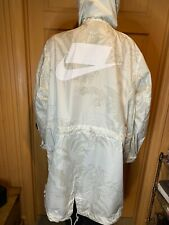 NWT Nike NSW Printed Parka Mens White Light Bone Active Wear AR1598-100 Sz M