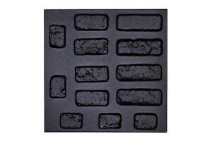 Kapri Bricks  Plastic Mold Mould Concrete Gypsum Plaster Wall Decoration Tile 3D
