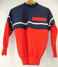 Vintage Tyrolia By Head Women's Ski Sweater Pullover Blue Red White S