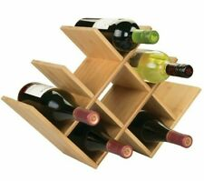 Bamboo Wine Rack | Bottle Holder | Free Vertical Standing | Organic Bamboo Wood