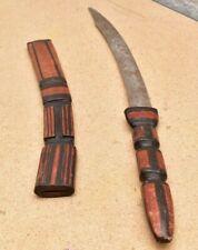 "Antique Islamic African Mandingo Mahdist Islamic Warrior Sword Sudan leather 28"""