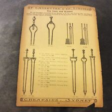 Antique Catalogue Page - Fire Irons & Brasses, Hearth Suites