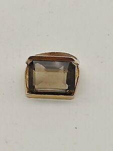 18ct Gold Smokey Quartz Ring, 1970s