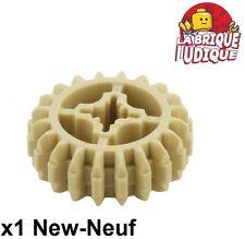 Lego technic - 1x engrenage pignon gear 20 tooth dbl bevel beige/tan 32269 NEUF