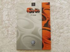 VW VOLKSWAGEN LT RANGE SALES BROCHURE 2005 33 PAGES