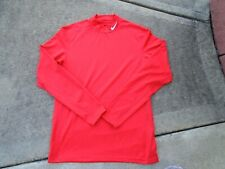 Nwot Nike Pro Combat Mens sz Medium red fitted Compression Long Sleeve Shirt