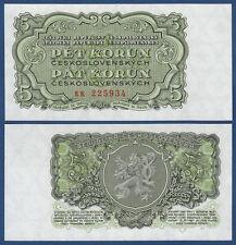 TSCHECHOSLOWAKEI CZECHOSLOVAKIA 5 Korun 1953 UNC P.80 b
