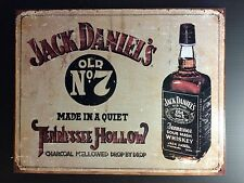 Jack Daniels Old No 7 Tennessee Hollow TIN SIGN VtgBottle Bar Wall Decor 30x40cm