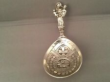Norwegian Solid Silver Christening/Anointing/Baptism Spoon, C1860 - 1900