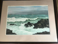 "Robert Manton Chace (1920 -2006) ""Ocean Scene"" Watercolor Painting-Signed/Framed"