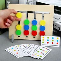 Double Sided Matching Game Kids Logical Reasoning Montessori Toy Colors & Fruits