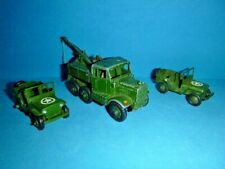 VINTAGE DINKY SUPERTOYS NO 661 RECOVERY TRACTOR AND 2 JEEPS MECCANO LTD