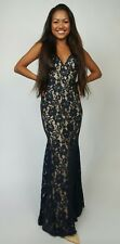 Women Formal Long Lace Dress Prom , Bridesmaid Wedding Gown open back .