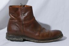 Frye Chris Inside Zip Men's Brown Leather Ankle Boots US 8.5D