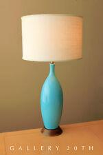 Mid Century Dänischer Modern Blau Porzellan -leuchte! 15.2mS Vtg Atomic Wegner