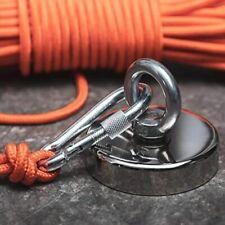 Fishing Magnets Neodymium Nylon Rope Salvage Extra Long Rope Hook Sea Searcher