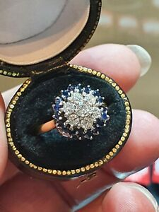 Beautiful 18ct yellow gold diamond and sapphire ring! Absolutely gorgeous!!!