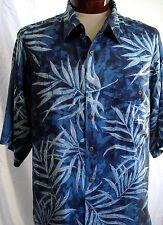 SILK Traders 100% SEDA Tropical Plantas Camisa Hawaiana XXL