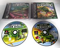 Army Men Air Attack 2 & Army Men Air Attack (Lot of 2) PlayStation PS1 Complete